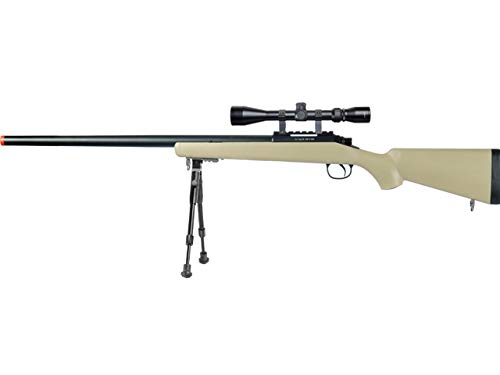 Well  1 Well MB03 Airsoft Sniper Rifle W/Scope and Bipod - Tan