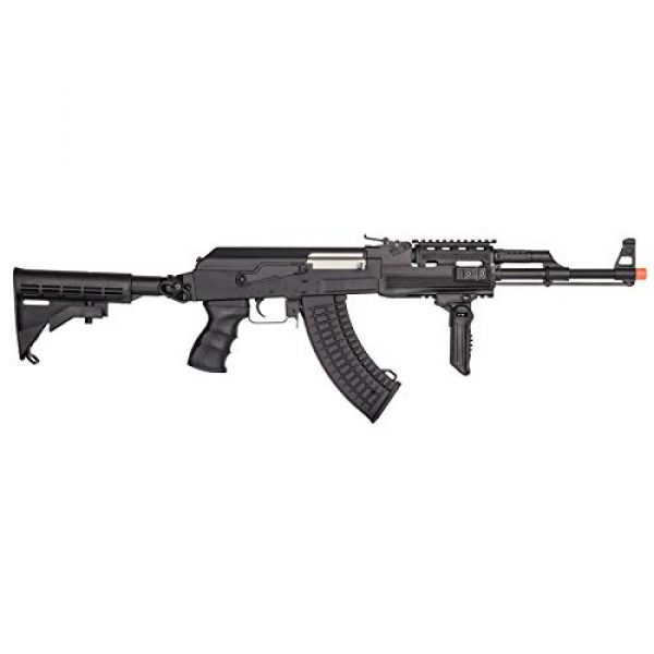 Lancer Tactical Airsoft Rifle 2 Lancer Tactical Airsoft Full Metal AK-47 AEG Rifle LE Stock with Battery & Charger Black