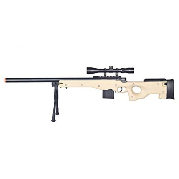 Well Airsoft Rifle 1 Well MB4401 Airsoft Sniper Rifle W/Scope and Bipod - Tan