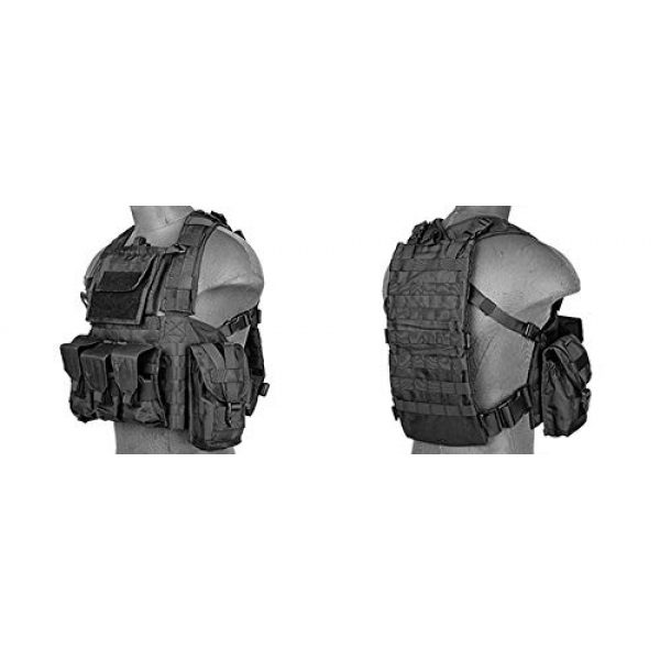 LT Airsoft Tactical Vest 3 LT Airsoft Tactical Vest Modular Rig Mag Pouch Hydration Pouch Multi Colors
