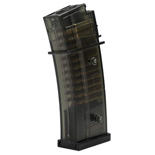 Elite Force Airsoft Gun Magazine 1 Elite Force 2275051 Hi-Cap Magazine - 400 RDS 6 mm BB, Black, One Size