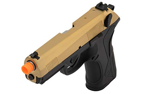 Lancer Tactical  3 Lancer Tactical WE Bulldog Full Size Full Metal Gas Blowback Airsoft Pistol Titanium Gold 280 FPS