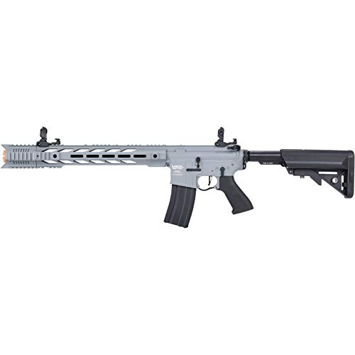 Lancer Tactical  1 Lancer Tactical LT-25 ProLine Series M4 SPR Interceptor Airsoft AEG Rifle HIGH FPS Gray 395 FPS