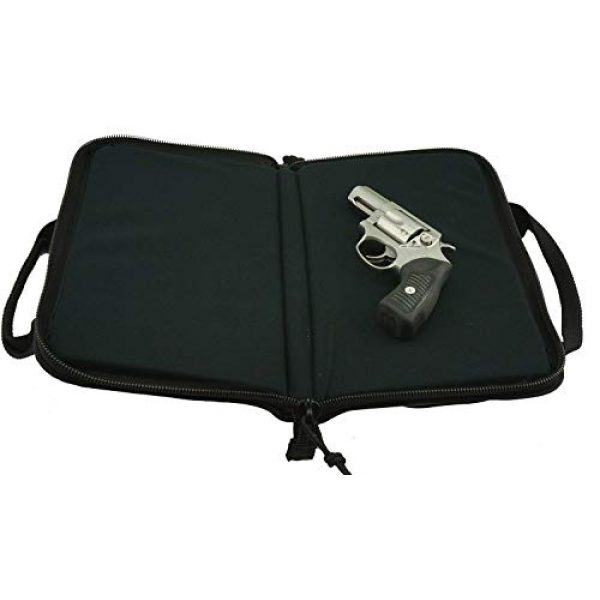 K-Cliffs Pistol Case 5 K-Cliffs Pistol Case Lockable Memory Foam Handgun Storage Pouch Carrying Bag   6 Magazine Pockets Black/Olive