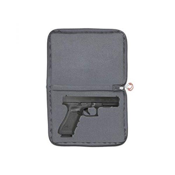Allen Company Pistol Case 7 Allen Company 11 inch Auto-Fit 2.0 Deluxe Handgun Case, Gray/Red