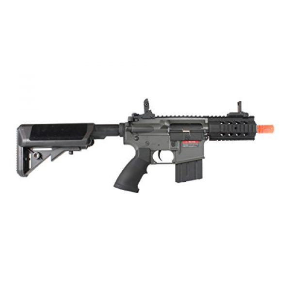 MetalTac Airsoft Rifle 4 MetalTac Electric Airsoft Gun M4 Stubby CQB JG-F6632 with Rail Mounting System, Metal Gearbox Version 2, Full Auto AEG, Upgraded Powerful Spring 380 Fps with .20g BBS