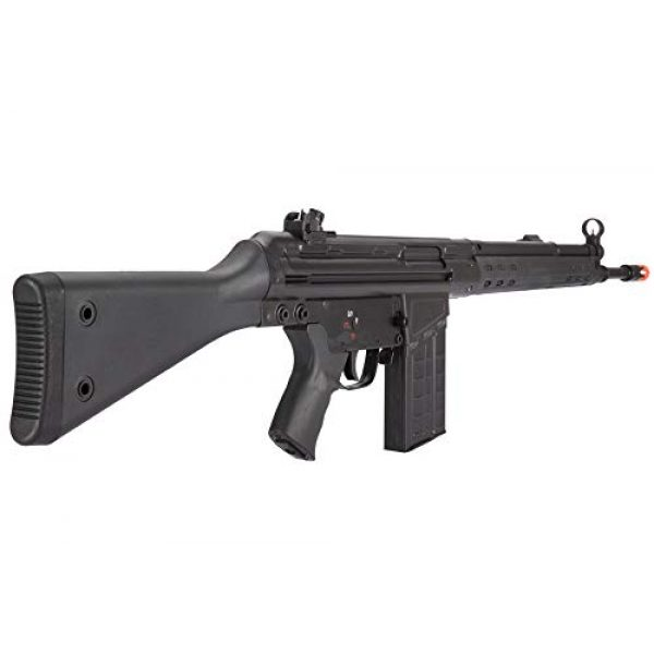 Lancer Tactical Airsoft Rifle 4 Lancer Tactical LCT Stamped Steel Full Stock LC-3A3-S Airsoft AEG Rifle Black