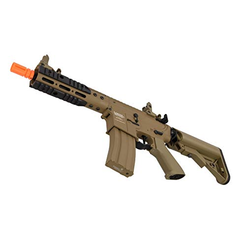 "Lancer Tactical  4 Lancer Tactical Proline 9"" KeyMod with Picatinny Carbine AEG Airsoft Rifle Tan 395 FPS"