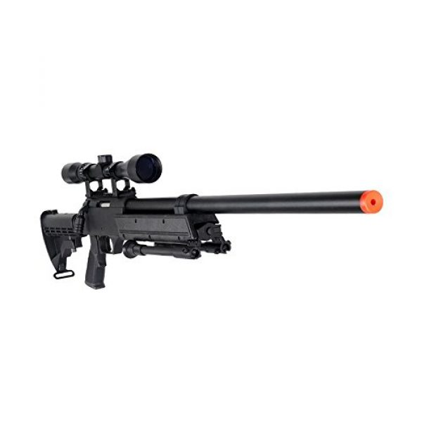 Well Airsoft Rifle 1 Well MB06AB Airsoft Bolt Action Sniper Rifle with Scope & Bipod FPS-460 - Black