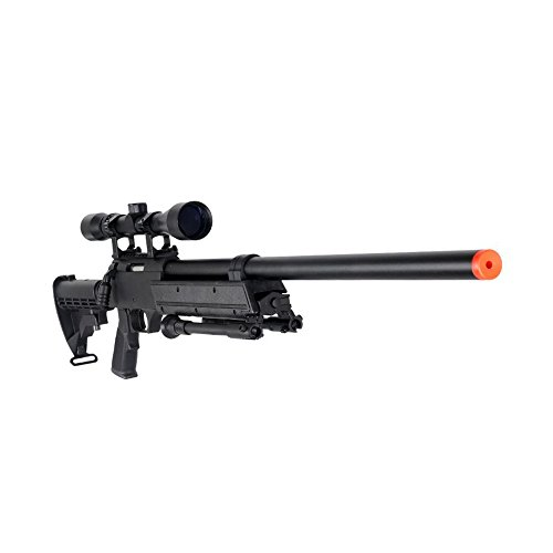 Well  1 Well MB06AB Airsoft Bolt Action Sniper Rifle with Scope & Bipod FPS-460 - Black