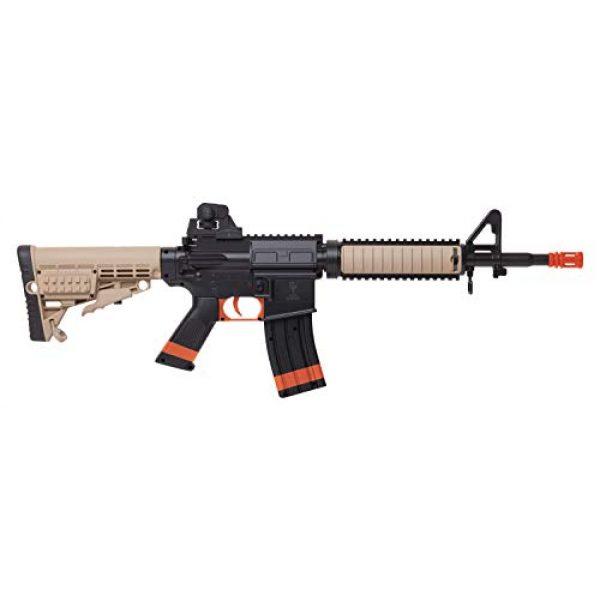 Game Face Airsoft Rifle 2 GameFace GFR37-CA Elite Renegade Spring-Powered Single-Shot Airsoft Rifle, Dark Earth/Black - California Compliant