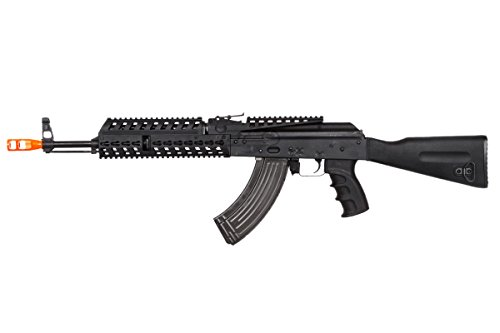 Lancer Tactical  4 Lancer Tactical LT104B AK47 Tactical Keymod Rifle Blowback AEG Airsoft Rifle by Lonex (Black)