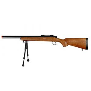 Well Airsoft Rifle 1 Well MB02 Airsoft Sniper Rifle W/Bipod - Wood