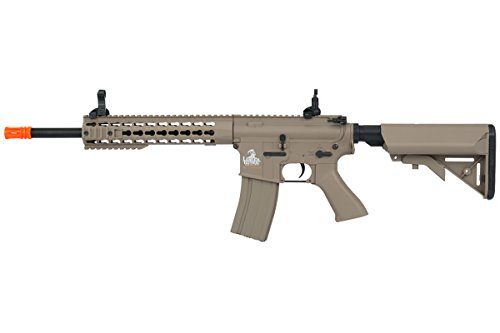 """Lancer Tactical  1 Lancer Tactical Full Metal Gear with 10"""" Rail Interface System Polymer Body (Dark Earth)"""