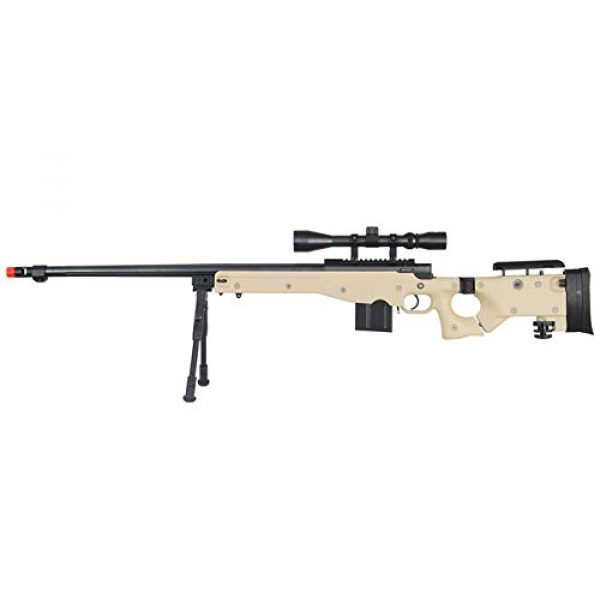Well Airsoft Rifle 1 Well MB4403 Airsoft Sinper Rifle W/Scope and Bipod - Tan