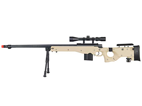 Well  1 Well MB4403 Airsoft Sinper Rifle W/Scope and Bipod - Tan
