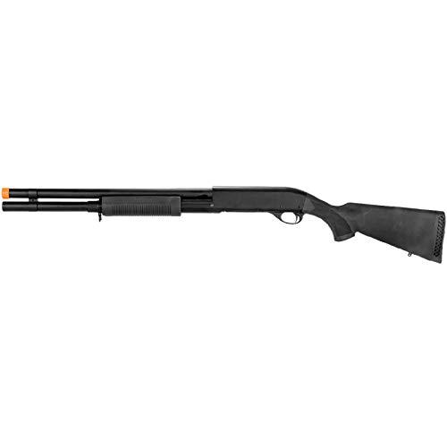 Lancer Tactical  1 Lancer Tactical Long M870 Shell Loading TriShot Airsoft Shotgun Black