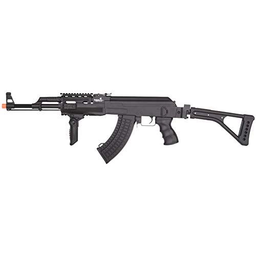Lancer Tactical  1 Lancer Tactical LT-728U AEG Airsoft Rifle with Folding Stock with Battery and Charger Black