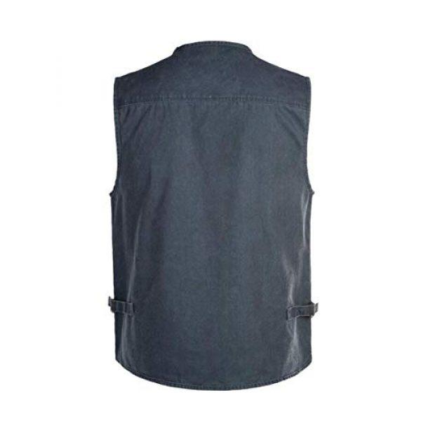 DAFREW Airsoft Tactical Vest 2 DAFREW Men's Outdoor Vest, Spring and Autumn Casual Outdoor Vest, Multi-Pocket Photography Cotton Fishing Vest (Color : Blue, Size : XXL)