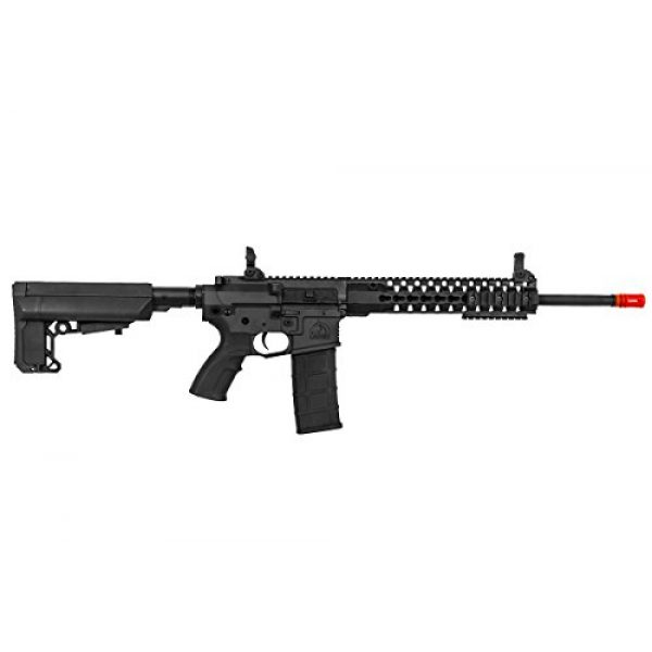 "Lancer Tactical Airsoft Rifle 5 Lancer Tactical M4 Advance Recon Carbine 16"" AEG Airsoft Gun (Black)"