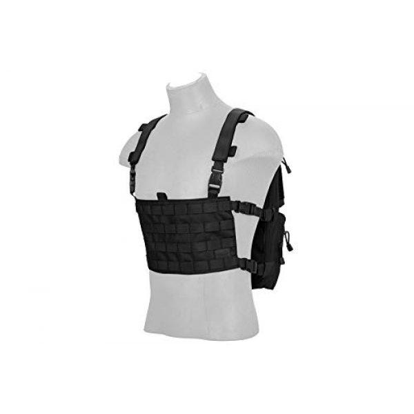Lancer Tactical Airsoft Tactical Vest 3 Lancer Tactical 1000D Nylon QD Chest Rig and Backpack Combo Black