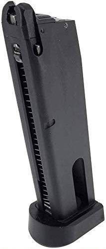 SportPro  1 SportPro Bell 25 Round Metal 12g CO2 Cartridge Gas Magazine for GBB M9 Airsoft - Black