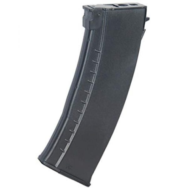 Lancer Tactical Airsoft Gun AK74 AEG Magazine 1 Lancer Tactical AK74 HI-Cap 600rd Airsoft AEG Magazine BBS Black