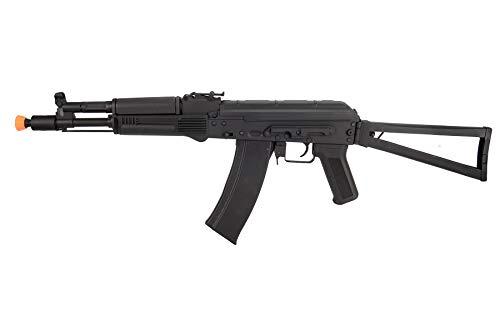 Lancer Tactical  1 Lancer Tactical AK-Series AKS-105 AEG Airsoft Rifle with Skeleton Foldable Stock Black
