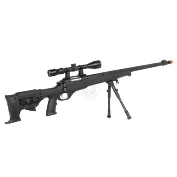 Airgunplace Airsoft Rifle 5 wellfire mb11d full metal bolt action sniper rifle w/ scope and bipod(Airsoft Gun)