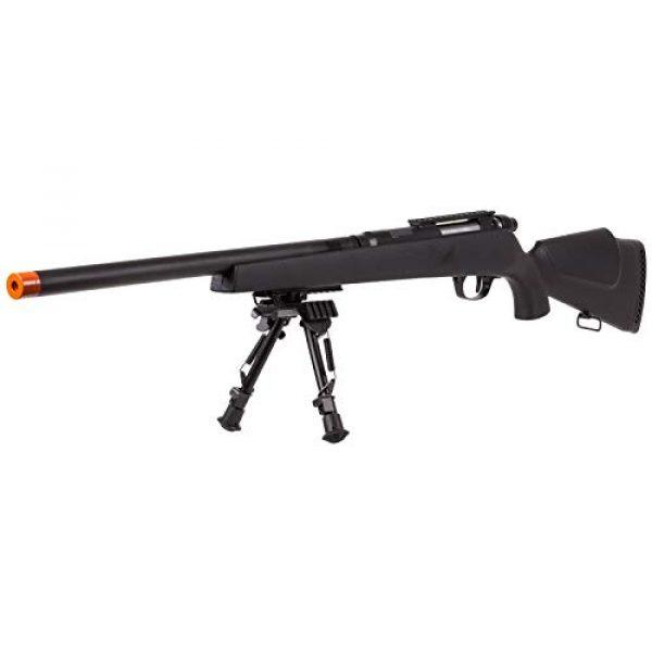 TSD Airsoft Rifle 1 TSD UHC Super X9 Double Bolt Airsoft Rifle, Black Box Mag Airsoft Gun (No Scope)