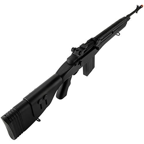 "Lancer Tactical  6 Lancer Tactical LT-732 DMR Stock 45"" M14 SOCOM Airsoft AEG Rifle Black"