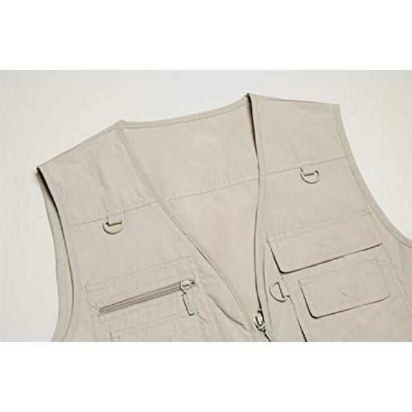 DAFREW Airsoft Tactical Vest 4 DAFREW Thin Vest Outdoor Leisure Fishing Vest Men's Vest Photography Vest (Color : Green, Size : XXL)