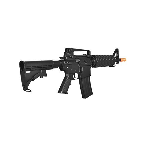 Lancer Tactical  3 lancer tactical lt-01bl electric airsoft gun fps-400 m4 commando full & semi auto v2 full metal gearbox(Airsoft Gun)