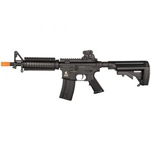 Lancer Tactical Airsoft Rifle 1 Lancer Tactical Airsoft M4 AEG Rifle with Crane Stock Black