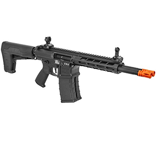 Lancer Tactical  4 Lancer Tactical Classic Army DT-4 Double Barrel AR AEG Airsoft Rifle Black 350 FPS