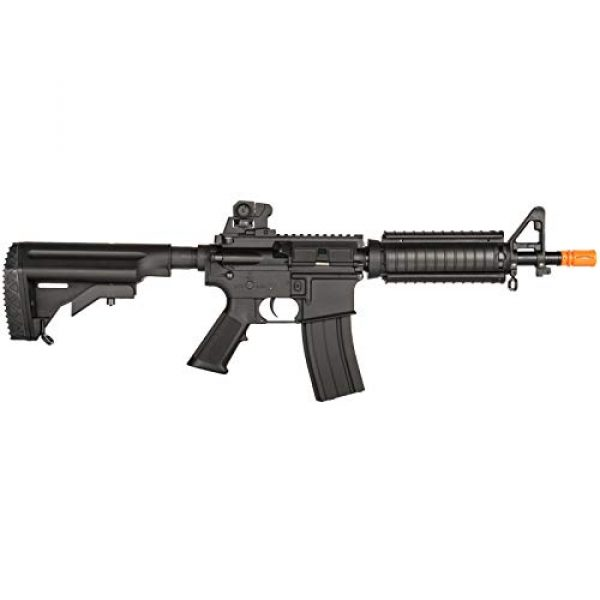 Lancer Tactical Airsoft Rifle 2 Lancer Tactical Airsoft M4 AEG Rifle with Crane Stock Black