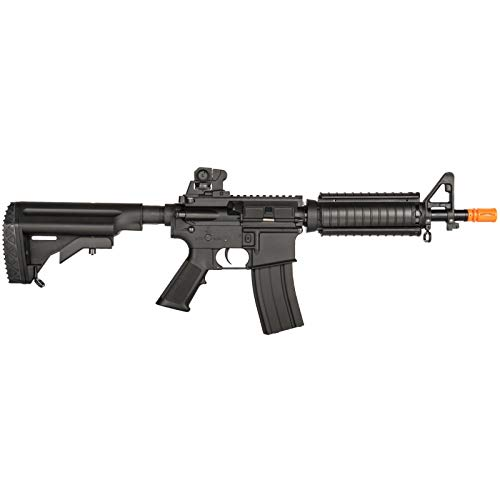 Lancer Tactical  2 Lancer Tactical Airsoft M4 AEG Rifle with Crane Stock Black