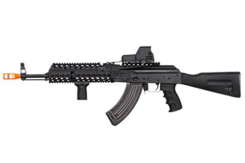 Lancer Tactical  2 Lancer Tactical LT104B AK47 Tactical Keymod Rifle Blowback AEG Airsoft Rifle by Lonex (Black)