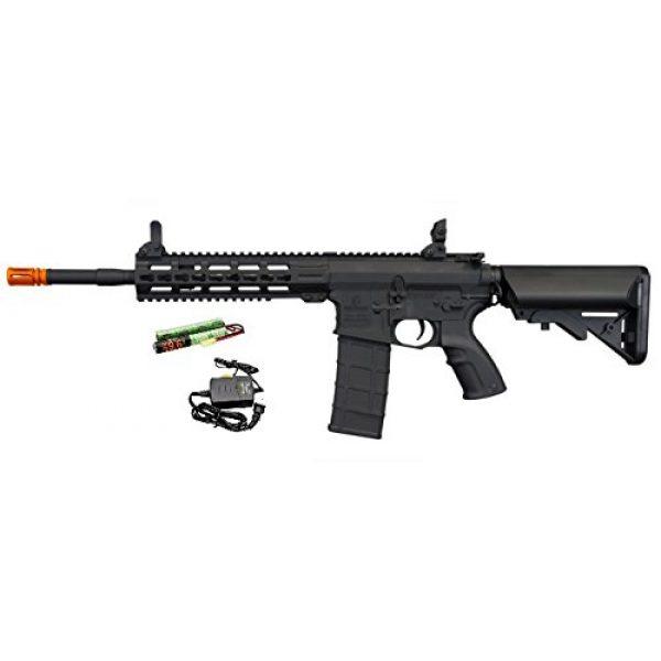 """Tippmann Airsoft Airsoft Rifle 1 Tippmann Commando 14.5"""" 6mm AEG Carbine (Battery & Charger) - Black"""