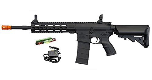 "Tippmann Airsoft  1 Tippmann Commando 14.5"" 6mm AEG Carbine (Battery & Charger) - Black"