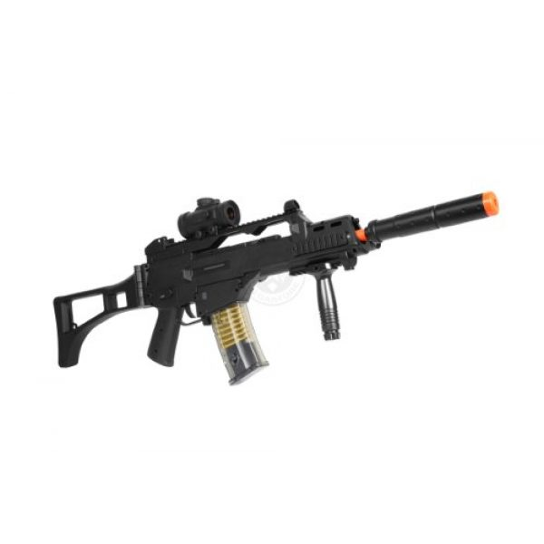 TAC Airsoft Rifle 2 DE R36C TacSpec Electric AEG Rifle w/Flashlight and Red Dot Scope