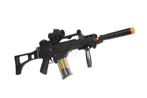 TAC  2 DE R36C TacSpec Electric AEG Rifle w/Flashlight and Red Dot Scope