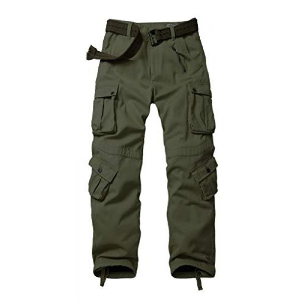TRGPSG Tactical Pant 1 Men's Cotton Wild Cargo Pants Military Army Camouflage Casual Work Combat Hiking Trousers with 8 Pockets