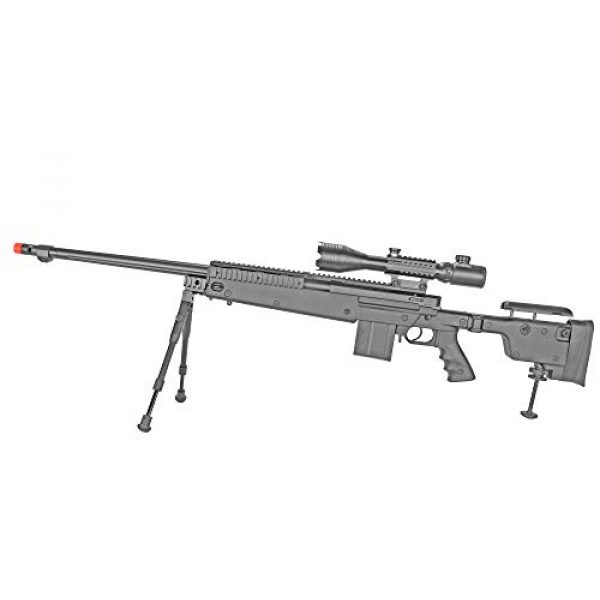 BBTac Airsoft Rifle 2 BBTac Well MB04 G-22 AWM Airsoft Sniper Rifle with 3-9 x 40 Scope and Bi-Pod