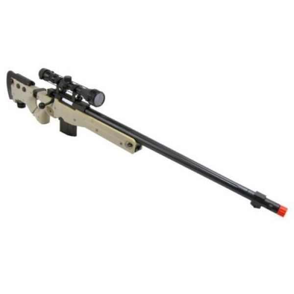 Prima USA Airsoft Rifle 1 well l96 heavy single bolt action spring airsoft sniper rifle with scope tan(Airsoft Gun)
