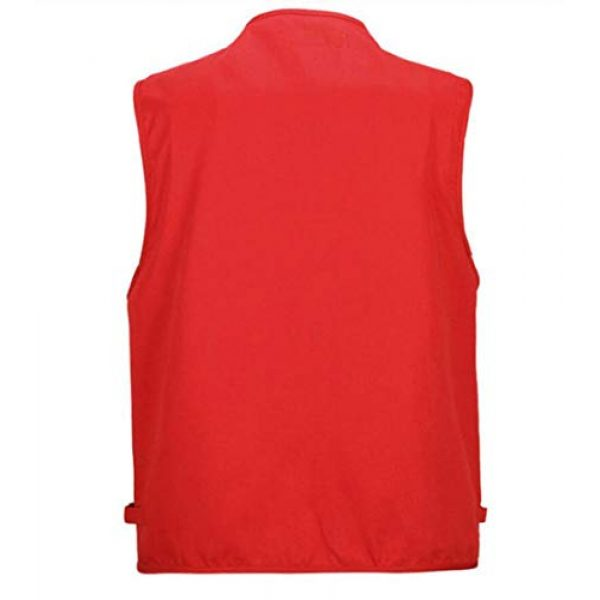 DAFREW Airsoft Tactical Vest 2 DAFREW Men's Vest Camera Vest Outdoor Leisure Fishing Vest Multi-Pocket Vest (Color : Red, Size : M)