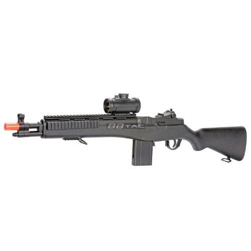BBTac  3 BBTac m305p airsoft gun m14 ris full sized spring airsoft rifle with scope with warranty(Airsoft Gun)