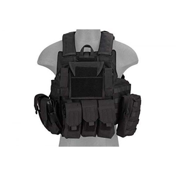 Lancer Tactical Airsoft Tactical Vest 3 Lancer Tactical 1000D Nylon Airsoft Combat Training Tactical Strike Assault Vest Black Adjustable
