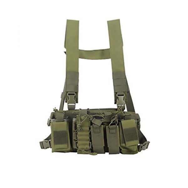 WEQ Airsoft Tactical Vest 1 WEQ Multifunctional Tactical Vest Outdoor Equipment Tactical Chest Hanging Combat Training Vest (Color : #E)