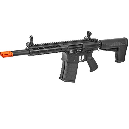 Lancer Tactical  3 Lancer Tactical Classic Army DT-4 Double Barrel AR AEG Airsoft Rifle Black 350 FPS